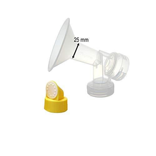 Coppa per il seno con valvola e membrana per tiralatte Medela. Prodotto da Maymom.