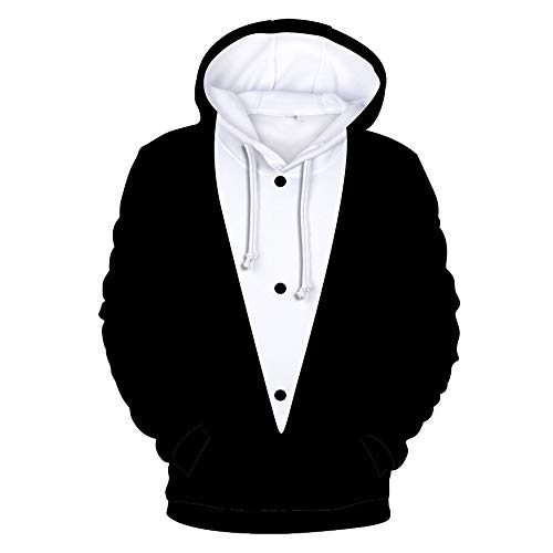 Buby Herren Langarm 3D gedruckt Weihnachten Weihnachten gefälschte Zweiteilige Hoodies Shirts T-Shirt Blazer Plus Size Hip Hop Tops Sweatshirt Mantel Jacke Outwear
