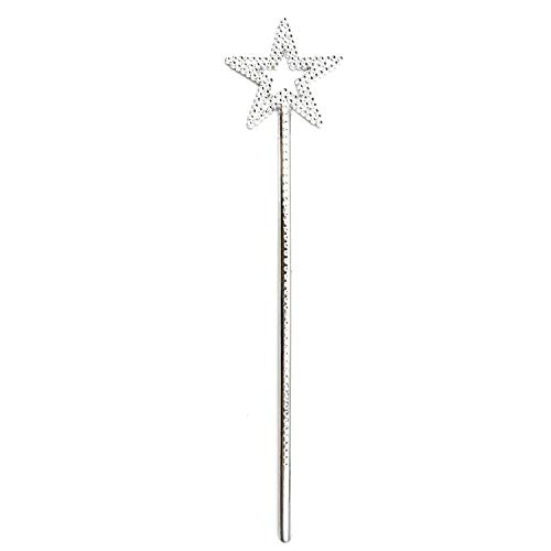 Silver 13 Inches Star Wand Angel WandSilver Fairy Princess Plating silver star wands