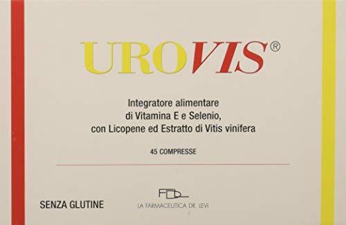 UROVIS - 45 compresse - copertura per 45 giorni - integratore Alimentare a Base di Licopene microincapsultato (potente antiossodante 30 volte più della vitamina C) Vitamina E, Selenio, Vitis vinifera
