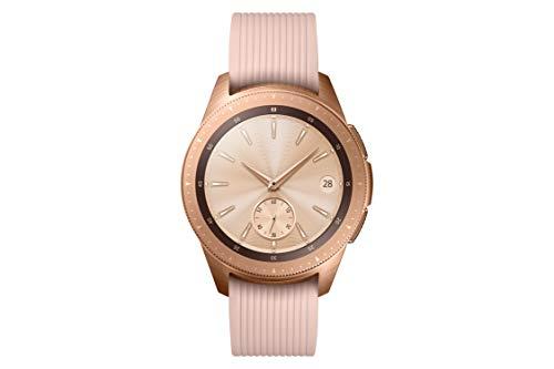 Samsung Galaxy Watch, Runde Bluetooth Smartwatch Für Android, drehbare Lünette, Fitness-tracker, 42mm, ausdauernder Akku, LTE, Gold (Deutche Version)