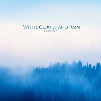 하얀 구름과 비