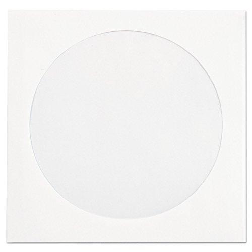 Quality Park Paper CD/DVD Sleeve, Ungummed, White, 4.825 x 5, 250 per Box, (62905)