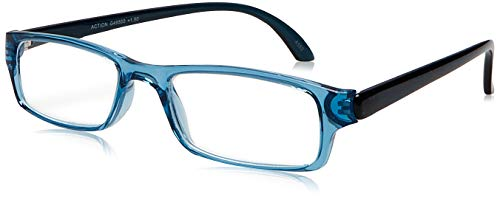 I NEED YOU Lesebrille Action SPH: 1.50 Farbe: blau-kristall, 1 Stück