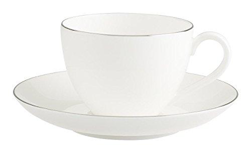 Villeroy & Boch 1046361290 Anmut Platinum No.1 Kaffeetasse mit Untertasse 2tlg