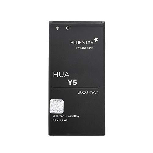 Blue Star Premium - Li-Ion Lithium Akku 2000 mAh Kapazität Schnellladung 2.0 Kompatibel mit dem Huawei Y5