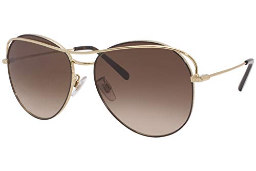 Dolce & Gabbana DG2261, (Gold/Brown Frame/Brown Gradient Lens), Talla única