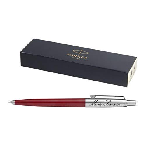 Exklusiver PARKER Kugelschreiber Modell JOTTER rot inkl. Gravur Lasergravur graviert neu