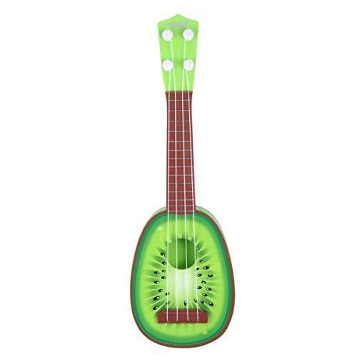 HEALLILY Ukelele Hawaii Guitarra Diseño de Fruta Instrumento de Música para Niños Juguetes Educativos Regalos de Cumpleaños para Niños Amantes de La Música para Principiantes (Kiwi)