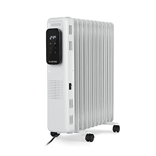 KLARSTEIN Thermaxx Elevate Smart – radiador eléctrico de Aceite, 2720 W, para 54 m², Rango de temperaturas Entre 7-35 °C, programable 24 Horas, Pantalla Digital, Panel táctil, Blanco