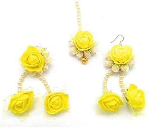Riya Handicraft Women's Fabric Paper Flower Jewelry Set Party Casual Wear