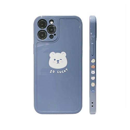 YLFC Retro Suerte Oso Japonés Caja del Teléfono para iPhone 12 11 Pro MAX XR XS MAX 12 Mini 7 8 Plus 7 7 Caso Cubierta Suave (Color : 01, Size : For iPhone XS MAX)