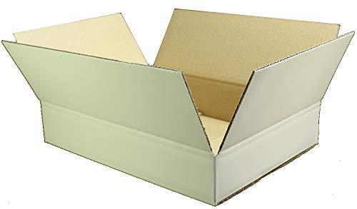 愛パックダンボール ダンボール箱 60サイズ 白 A4対応 100枚 段ボール 日本製 無地 薄型素材
