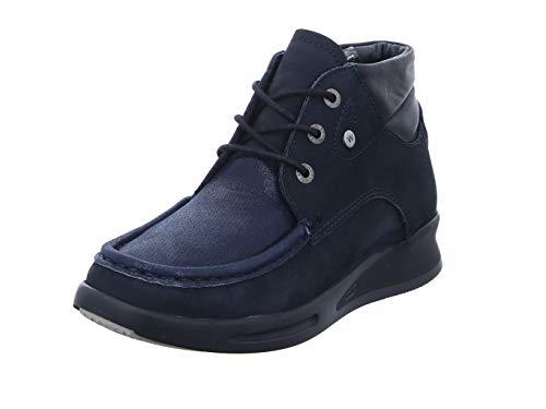 Wolky Comfort Schnürschuhe Three - 10875 blau-Winter Stretch Nubuck - 42