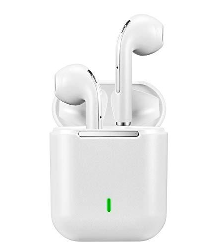 Auriculares Bluetooth 5.0 Inalámbricos TWS H2 Pop-Up Conexión y Touch Control Sonido Estéreo 3D con IPX7 Waterproof Emparejamiento Automático Auriculares para iPhone/Samsung/Android/Airpods-Blanco