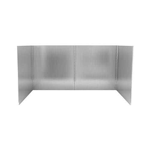 Anti Oil Splatter Guard Grease Screens Oil Baffle Wall Kitchen Gadgets Stainless Steel Folding Splashproof For Cooking Tools Splatter Screens 3 Sided Splatter Guard Anti Splatter Shield Guard