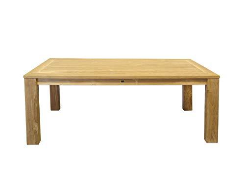 Antike Fundgrube Gartentisch Tisch Gartenmöbel Teakholz massiv unbehandelt 200x100x78 cm (8964)