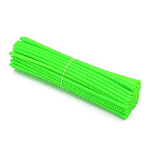 Cubiertas de la Rueda de la Rueda del motocrós de la Rueda de la Rueda de la Piel del Protector de la decoración de los Tubos (Color : Green)
