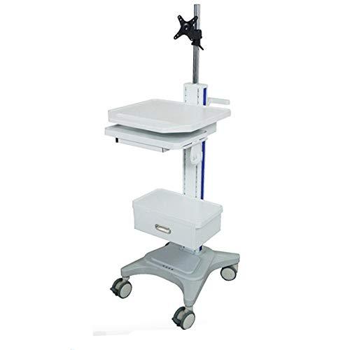 Mobile Krankenschwesterrunden, Integriertes Medizinisches Display, Halter Für Mündliche Scaninstrumente, Medizinischer Computerinstrumentenwagen