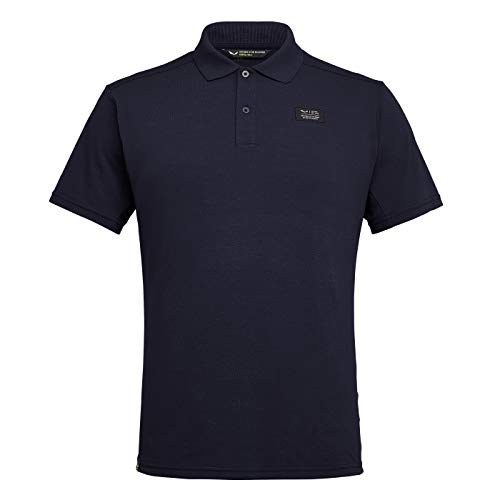 Salewa DRI-Release Dry M S/S Polo Homme, Premium Navy, FR : L (Taille Fabricant : 3980)