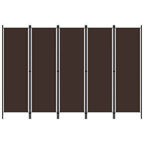 Raumteiler Trennwand Stellwand Balkon Sichtschutz,5-TLG. Raumteiler Braun 250x180 cm