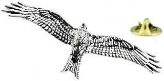Spilla in peltro inglese uccello aquilone rosso