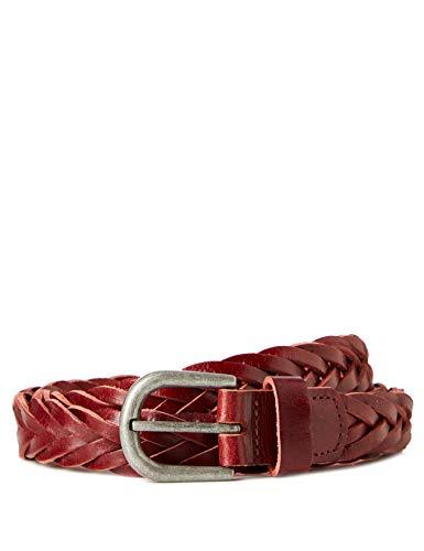 Marchio Amazon - find. Cintura Intrecciata in Pelle Uomo, Marrone (Oxblood)., L, Label: L