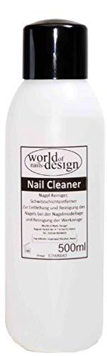 World of Nails-Design Nagel Cleaner 500ml Cleaner Für Gelnägel Nagelreiniger Nail Cleaner 70% Isopropanol