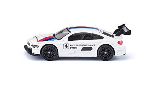 Siku 1581, BMW M4 Racing 2016 Sportwagen, Metall/Kunststoff, Weiß/Multicolor, Detailgetreuer Heckflügel, Spielzeugauto für Kinder
