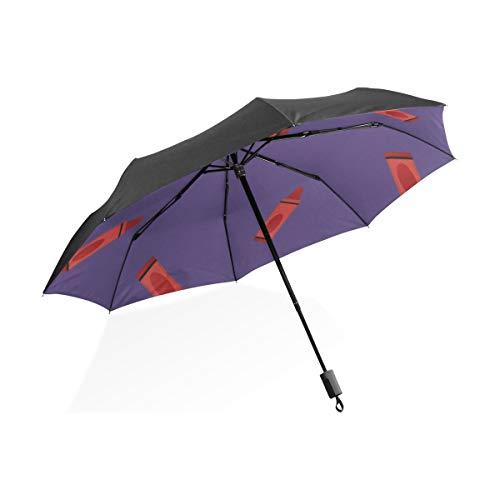 Wendeschirm Kunst Kreative Mode Kindliche Wachsmalstift Tragbare Kompakte Taschenschirm Anti Uv Schutz Winddicht Outdoor Reise Frauen Bunten Regenschirm Winddicht