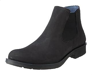 Salerno Almond-Toe Ankle Length Nubuck Chelsea Boots For Men