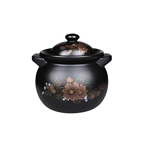 HLJ Keramik Casserole Suppentopf Kamin Hochtemperatur Steintopf Dry Brennen ohne Cracking Hitzebeständige 4.5L