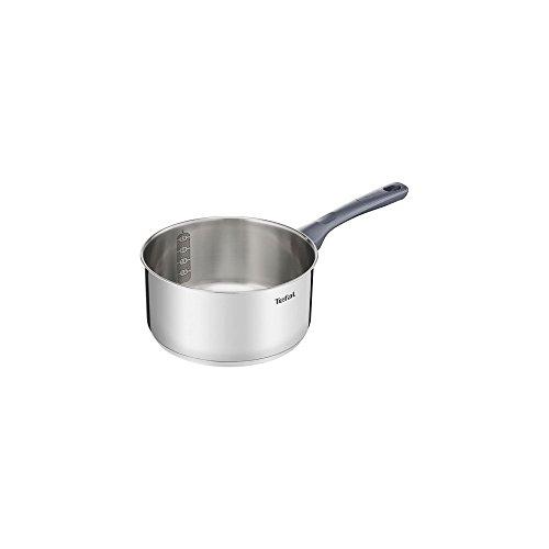 Tefal Daily Cook - Cazo de acero inoxidable de 16 cm, 1 Litro, base reforzada, aptas para todo tipo de cocinas incluido inducción, gran conductividad y resistencia con materiales reciclados