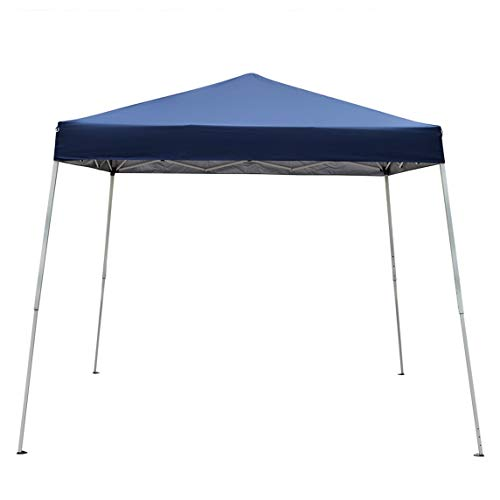 DOLMER 8.2 x 8.2' Portable Home Use Waterproof Folding Tent Blue Big Tent with Rooms for Camping Outdoor Party Canopy Tents Sun Shelter