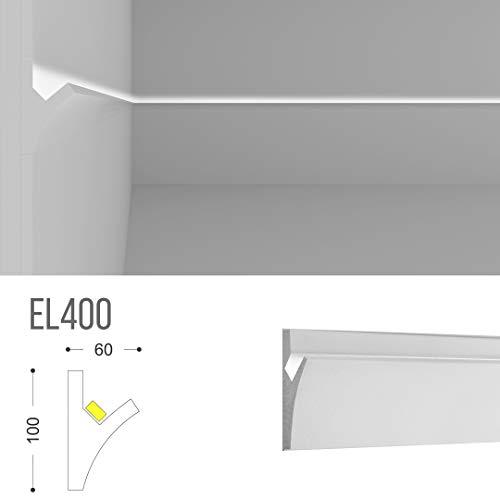 EL400 - Veletta per luce indiretta diffusa led a parete da incasso nel cartongesso
