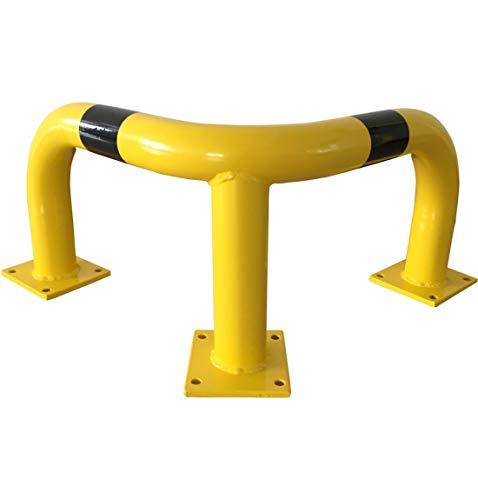Rammschutzbügel Eckrammschutzbügel zum Aufdübeln gelb/schwarz Stahl, 35 cm