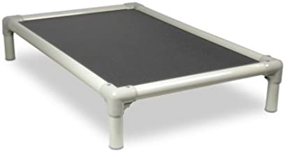 Kuranda Dog Bed - Chewproof Design - Almond PVC - Indoor/Outdoor - Elevated - High Strength PVC - Provides Traction - Orthopedic - Best for Allergies/Sensitive Skin - Cordura Fabric