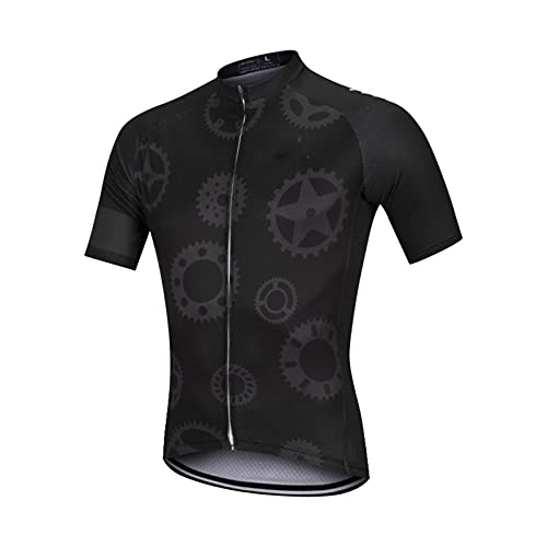 NAXIAOTIAO Outdoor Breathable And Sweat-Wicking Cycling Wear,Black Gear Bike Suit,Mountain Quick Dry Biking Shirt Strap Set,XS