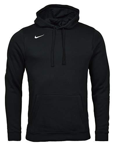 Nike Mens Club Fleece Hoodie (Small, Black/White)