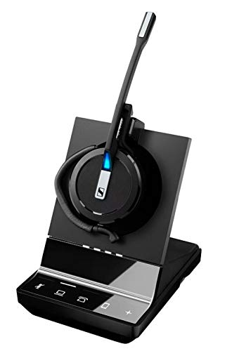 Sennheiser SDW 5015 Minerve Kopfhörer mit Ohrbügel, Schwarz - Kopfhörer (Media/Kommunikation, 1.0 Kanäle, nur eine Hörmuschel, Ohrhaken, Stirnband, Schwarz, kabellos