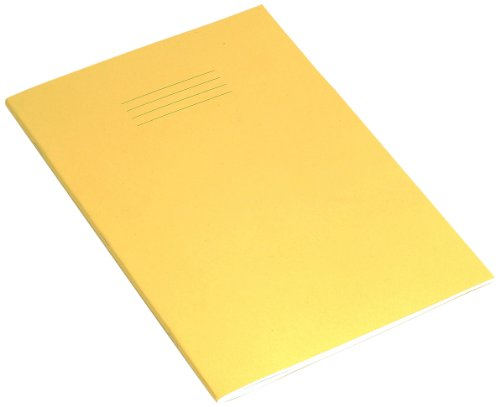 RHINO - Libro per esercizi con 80 pagine bianche, formato A4, confezione da 10, colore: Giallo