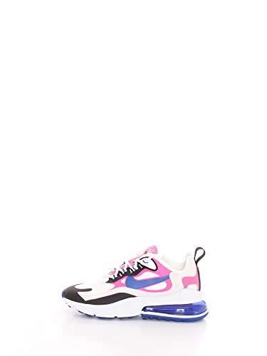 Nike W Air Max 270 React, Scarpe da Corsa Donna, Multicolore (Summit White/Hyper Blue/Cosmic Fuchsia/Black), 38 EU