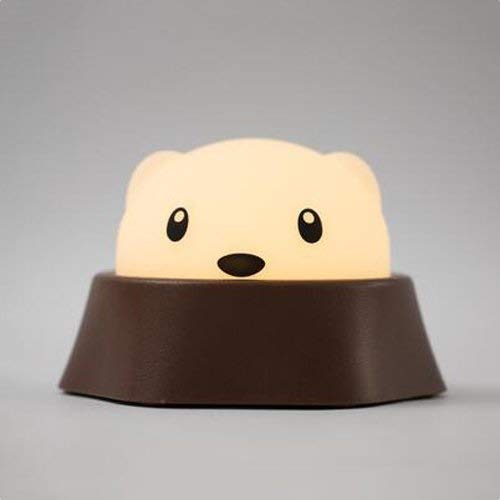 BXU-BG Bonito Mini Hamster Noche de luz LED de carga dormitorio lámpara de cabecera del lactante creativo pequeña lámpara de mesa for niños del bebé