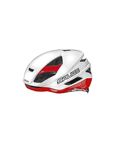 Salice Casco Bike Tg. 52-58 Bianco-Rosso, Unisex-Adulto