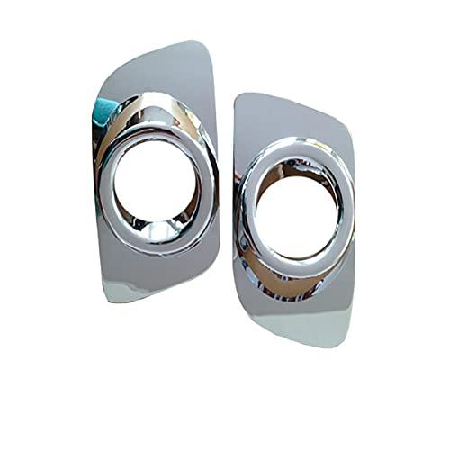 SUKLIER Abs Chrome Front Trim Lampe Rahmenkappe,Nebelscheinwerfer Blende Abdeckung ,FüR Mazda 6 M6 2008-2012,Shiny Silver