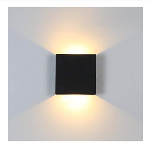 6W Up Down Dimbare LED Aluminium Wandlamp Vierkante LED Wandlamp Voor Nachtkastje Slaapkamer Woonkamer Gang Opzij Verlichting Wit Koud wit 1