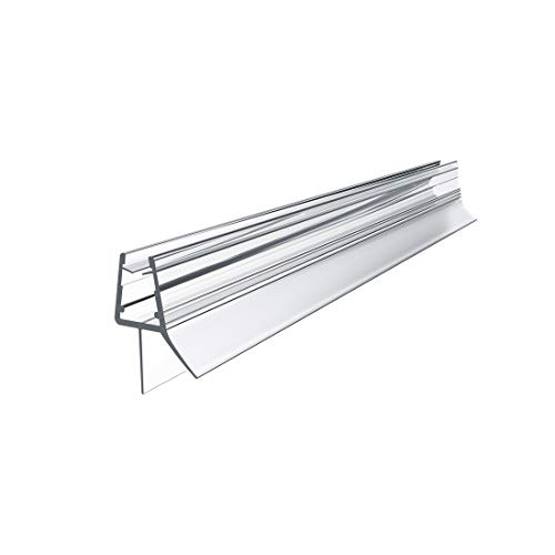 EMKE Ersatzdichtung Wasserabweiser Duschdichtung Schwallschutz Duschkabine Bad 7-8mm Glas 1000mm