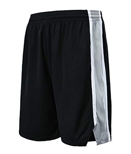 ZJFSL NBA Shorts San Antonio Spurs Short De Baloncesto Short Hombre Pantalones Cortos Deporte Pantalon Corto Running Hombre Short Deporte Pantalones Cortos with Bolsillos