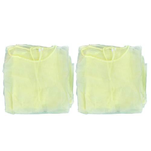Healifty Abito Isolante Monouso 8 Pezzi con Polsino Elastico Tute Protettive Non Tessute Abiti Tuta Corpo Abbigliamento per Industrie di Laboratorio Ospedaliere Salone di Bellezza Giallo