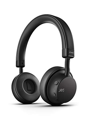 JAYS Auriculares Bluetooth Inalámbricos - a-Seven - Negro - Cascos 25h de duración & con microfono